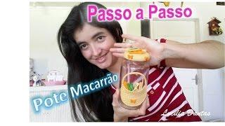 Pote para Macarrão em Biscuit – Passo a Passo – Iniciantes
