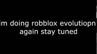 roblox evolution Ankündigung