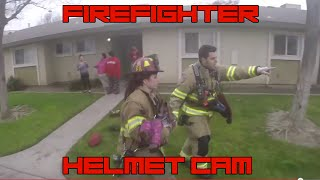 AMAZING! Firefighter Rescuse Kids from Burning Building Fire! GoPro Helmet Cam