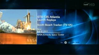 Space Shuttle Atlantis STS-135 launch replays 2011-07-08