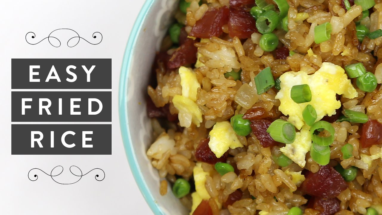 How To Make Easy Fried Rice Quick Healthy Dinner Recipe Miss Louie Youtube