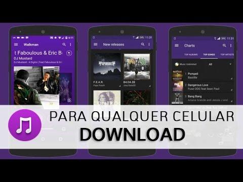 Como instalar Player de música Sony em qualquer celular Android (Melhor  Player) ATUALIZADO 2019