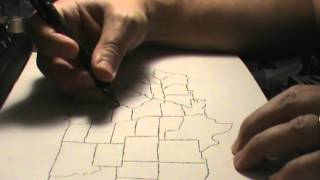 ASMR Drawing Tutorial - Basic Map of USA - Softly Spoken with Soothing Art Sounds