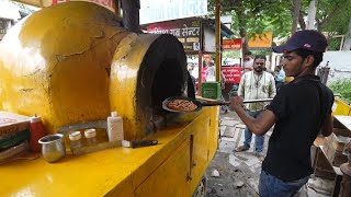 Extreme Level Pizza Making of Udaipur   Unseen Pizza Vendor   Indian Street Food