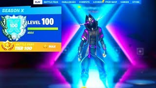 i unlocked LEVEL 100 in Fortnite.. (SEASON 10)