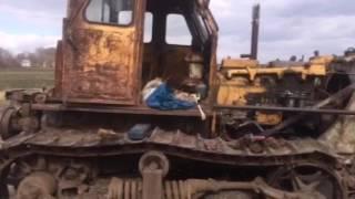Заводим бульдозер Т-100, после 20 лет простоя ( Start the bulldozer Т-100)