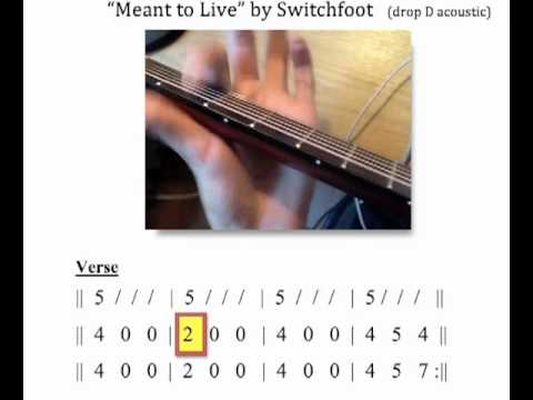 Meant To Live Moving Chord Chart Acoustic Guitar Tutorial Youtube