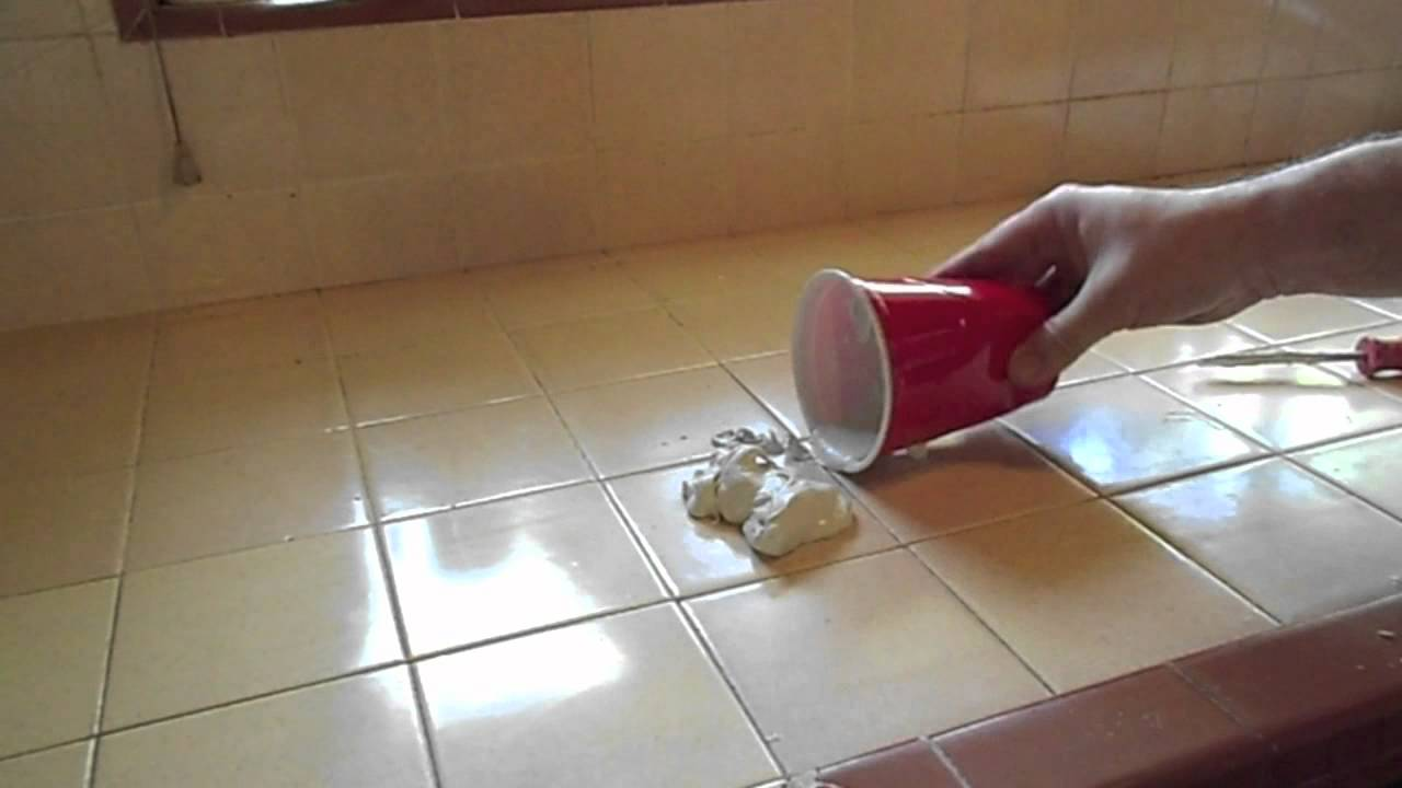 Home Repair: Kitchen Tile Re Grout YouTube