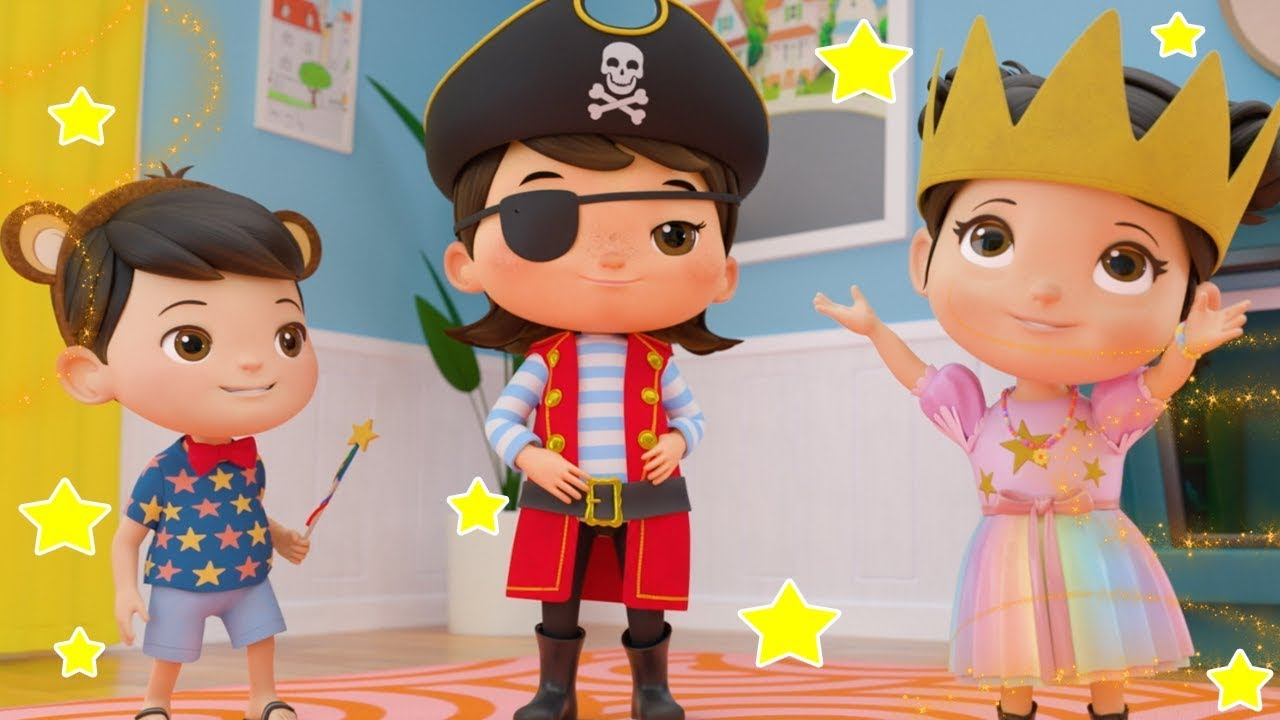 Dress Up Game! Princess, Pirates & Monkey's | Kids Songs | Videos For Kids | lagu anak
