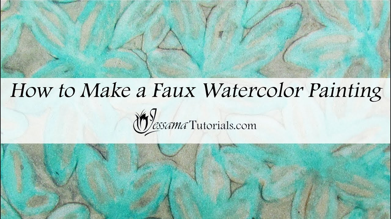 Faux polymer clay watercolor painting tutorial youtube for Clay mural tutorial