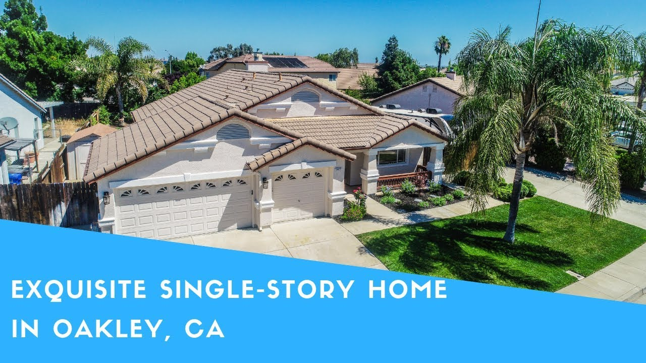 Exquisite Single-Story Home in Oakley, CA!  5097 Winchester Dr.