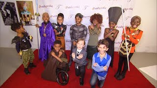 Kids Stage Photo Shoot Inspired by 'Black Panther' Movie