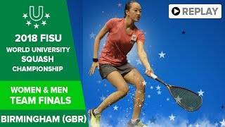 🔴 SQUASH - Team Finals - 2018 FISU World University Champs thumbnail