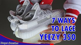 Tổng hợp 7 cách thắt dây Yeezy 350   7 WAYS TO LACE YEEZY 350 V2   Vlog 65 – Duyet Sneaker