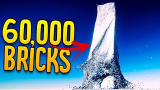 I Used Dynamite To Destroy A Giant Tower Of 60,000 Bricks - Towers Game (Unity Havoc Physics)