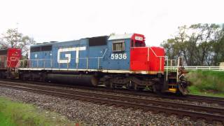 GTW 5936 and CN 5259 go back to the local train