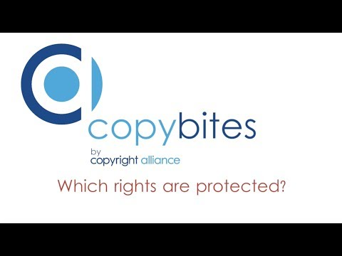 """Copybites by Copyright Alliance """"Which rights are protected?"""""""