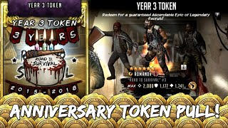 Athena Claims Anniversary Token Pull!!! The Walking Dead: Road to Survival