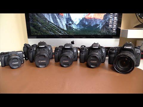 Canon M3, 700D (T5i), 750D (T6i), 60D, 5DmkII | Comparativa
