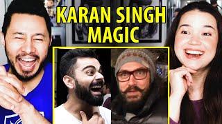 AAMIR KHAN \u0026 VIRAT KOHLI Having Their Minds Blown by KARAN SINGH MAGIC   Reaction by Jaby \u0026 Achara!