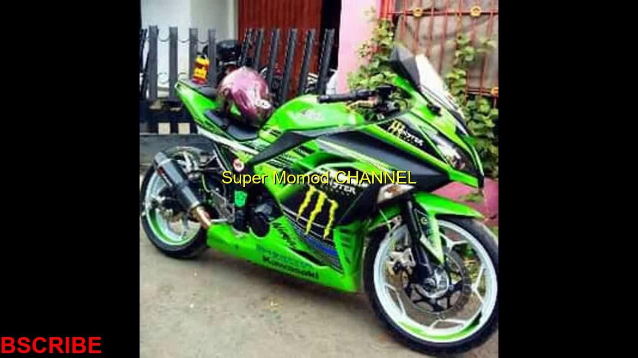 Modifikasi difikasi ninja 250 fi abs hijau keren