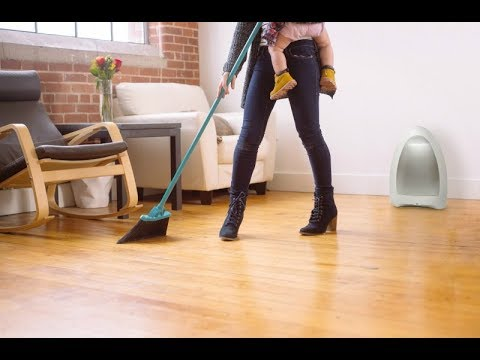 Touchless stationary vacuum will collect all the dirt and debris from your floor
