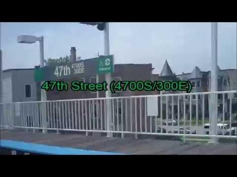 CTA Green Line train from 47th Street to Harlem/Lake terminal (06-03-16)