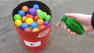 experiment: Firecracker Vs Balloons