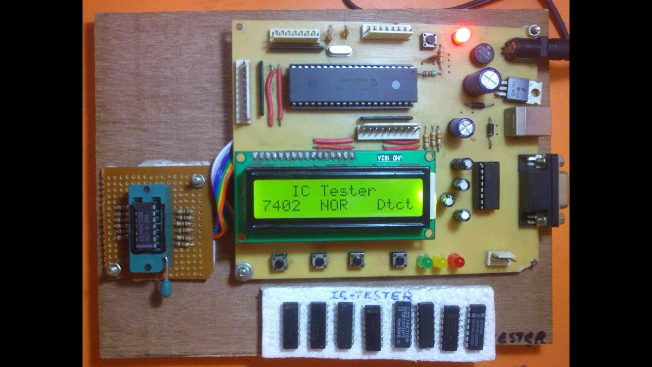Digital Ic Tester Using Microcontroller Youtube Multimeter 8051 Schematic