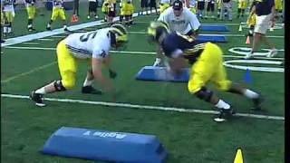 Michigan Football First Day of Full Contact - 2010 Preseason Camp