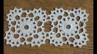 Kare Dantel Motifi Yapımı \u0026 Çeyizlik Tığişi Örgü Dantel Motifi \u0026 Crochet
