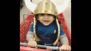 Baby getting ready for Halloween! Smiles cute & Funny