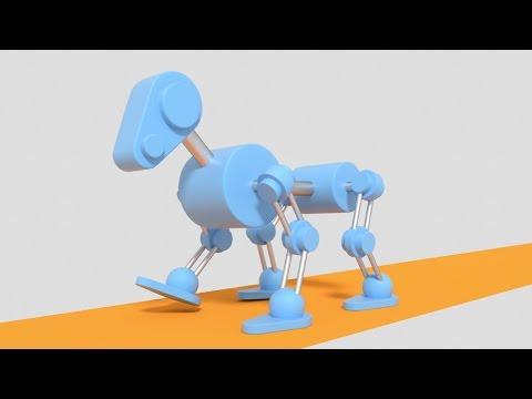 Tutor4u Tutorial Result, Robot Animation Cycles Blender