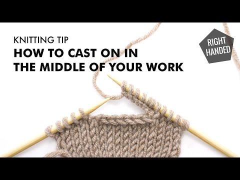 How to Cast on in the Middle of Your Work :: Knitting Tip :: Right Handed