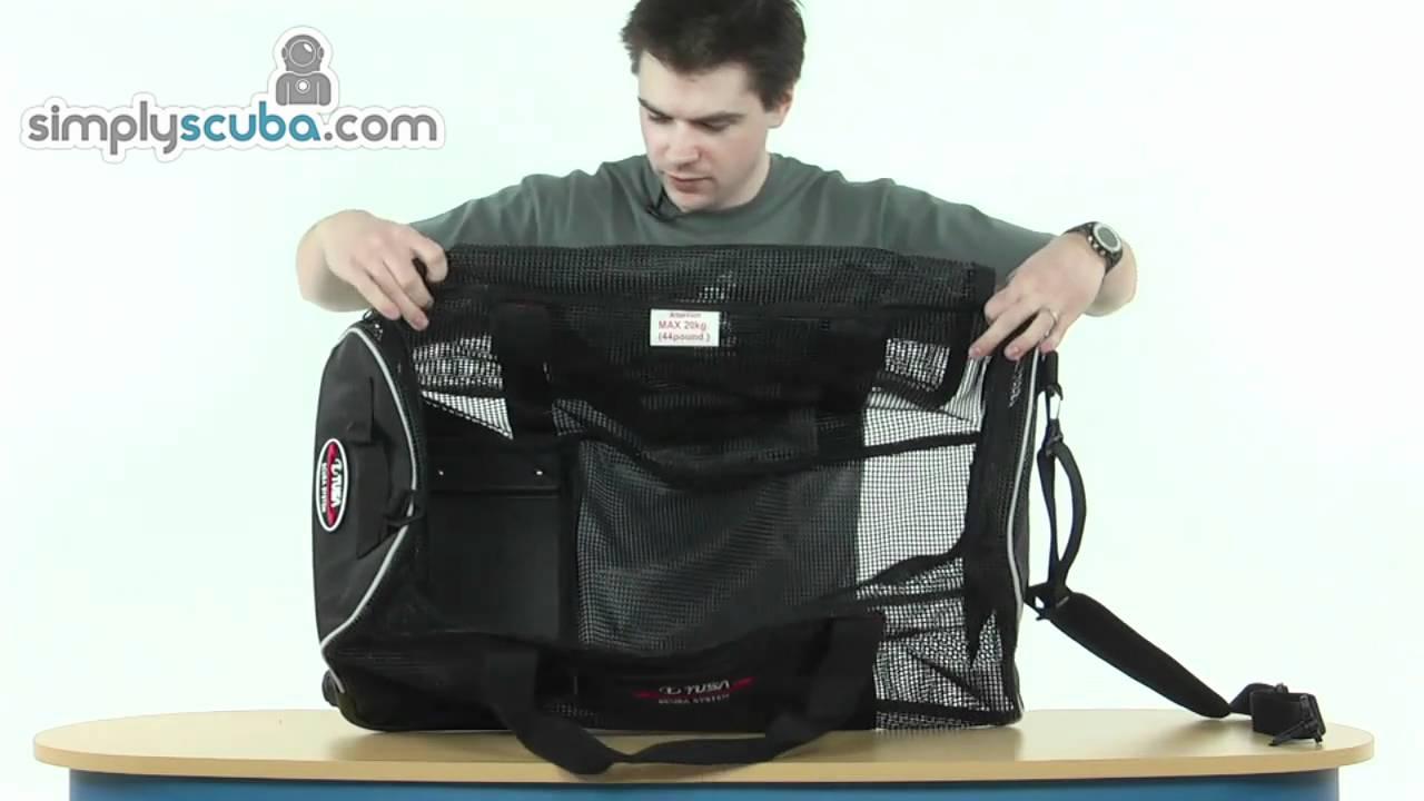 a12ea70bb4 Tusa Mesh Roller Bag - www.simplyscuba.com - YouTube
