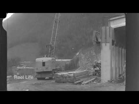 1961 Snow Shed Construction Trans-Canada Highway, Rogers Pass BC