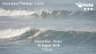 16 - 08 - 2018 /✰✰✰ / NUSA's Daily Surf Video Report from the Bukit, Bali.