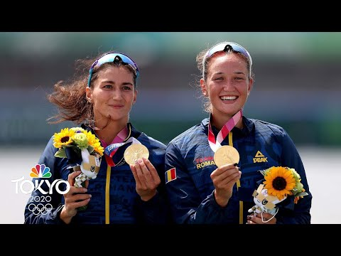 Romania wins first women's double sculls medal since 1992  Tokyo Olympics  NBC Sports