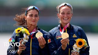 Romania wins first women's double sculls medal since 1992 | Tokyo Olympics | NBC Sports