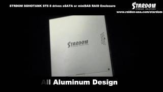 STARDOM SOHOTANK ST8 8 bay miniSAS or eSATA RAID enclosure for Apple Final Cut Pro. AVID, Premiere