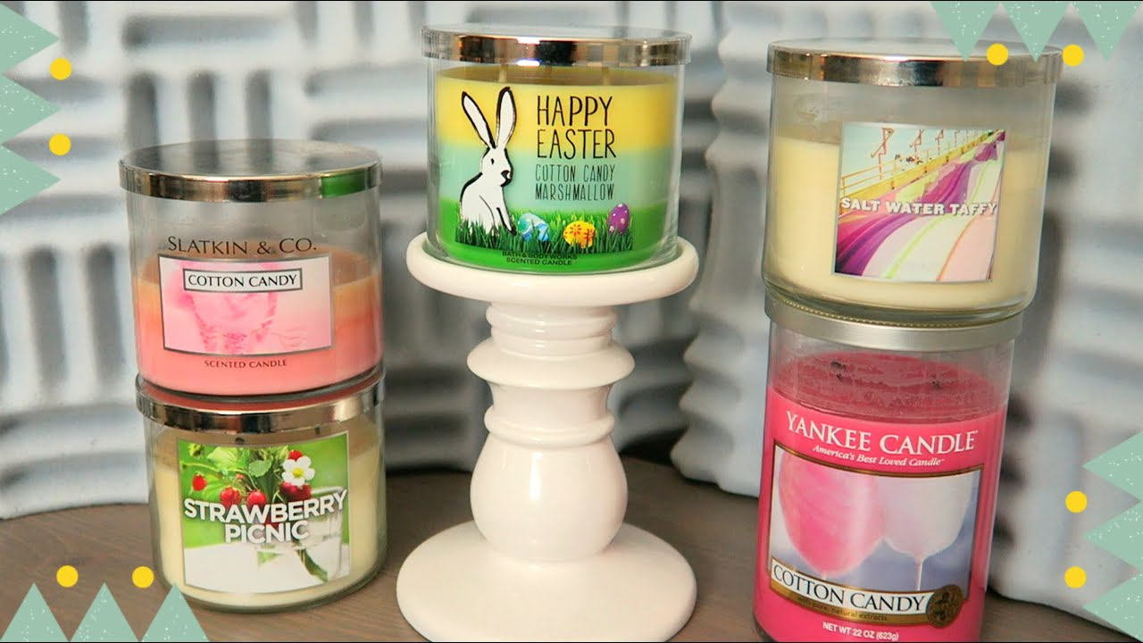 Happy Easter: Cotton Candy Marshmallow' Bath & Body Works Candle ...