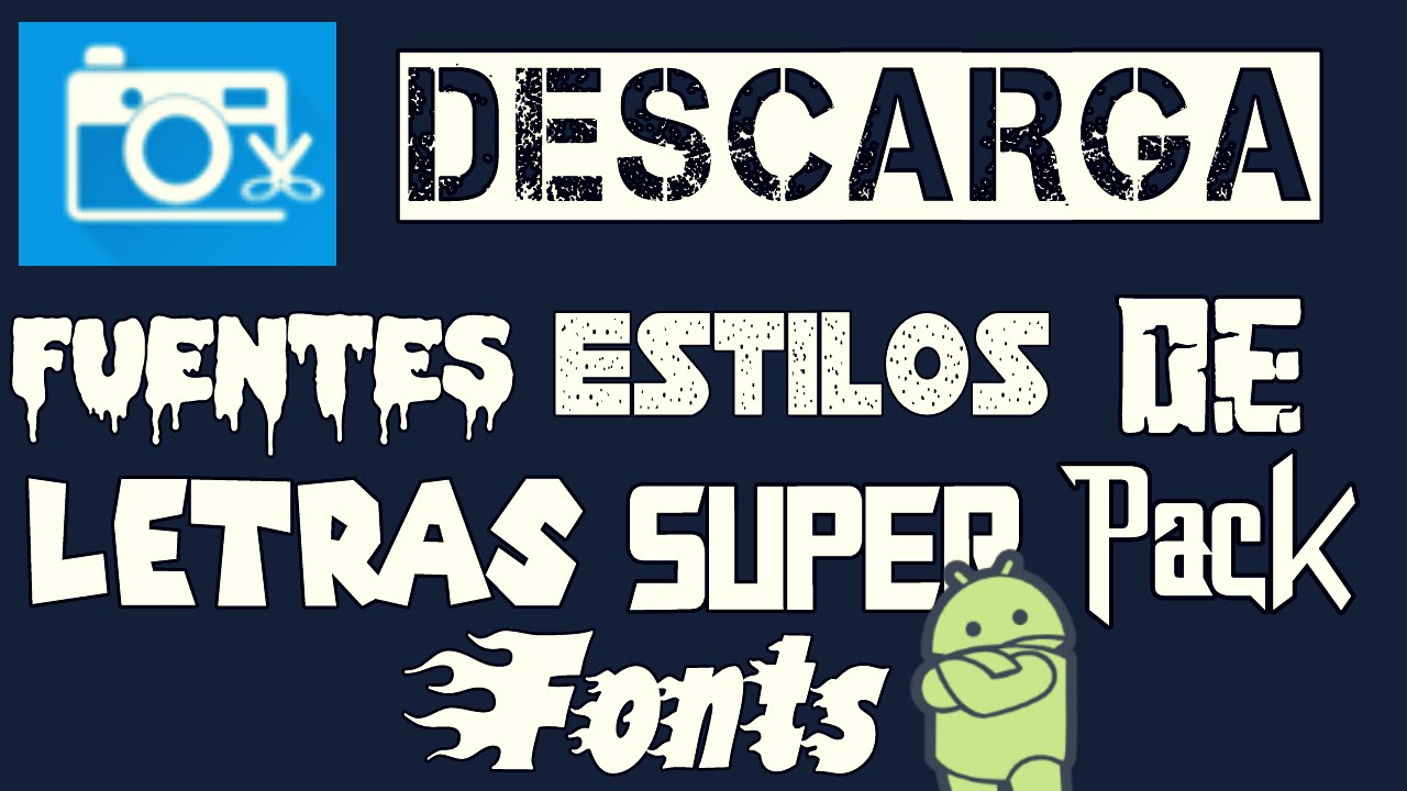 Descarga fuentes estilos de letra para photo editor edita for Estilos de letras