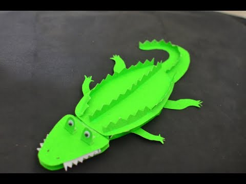How to make crocodile   Paper craft   Easy craft for kids #craft  #diy #crocodile  #craftstory