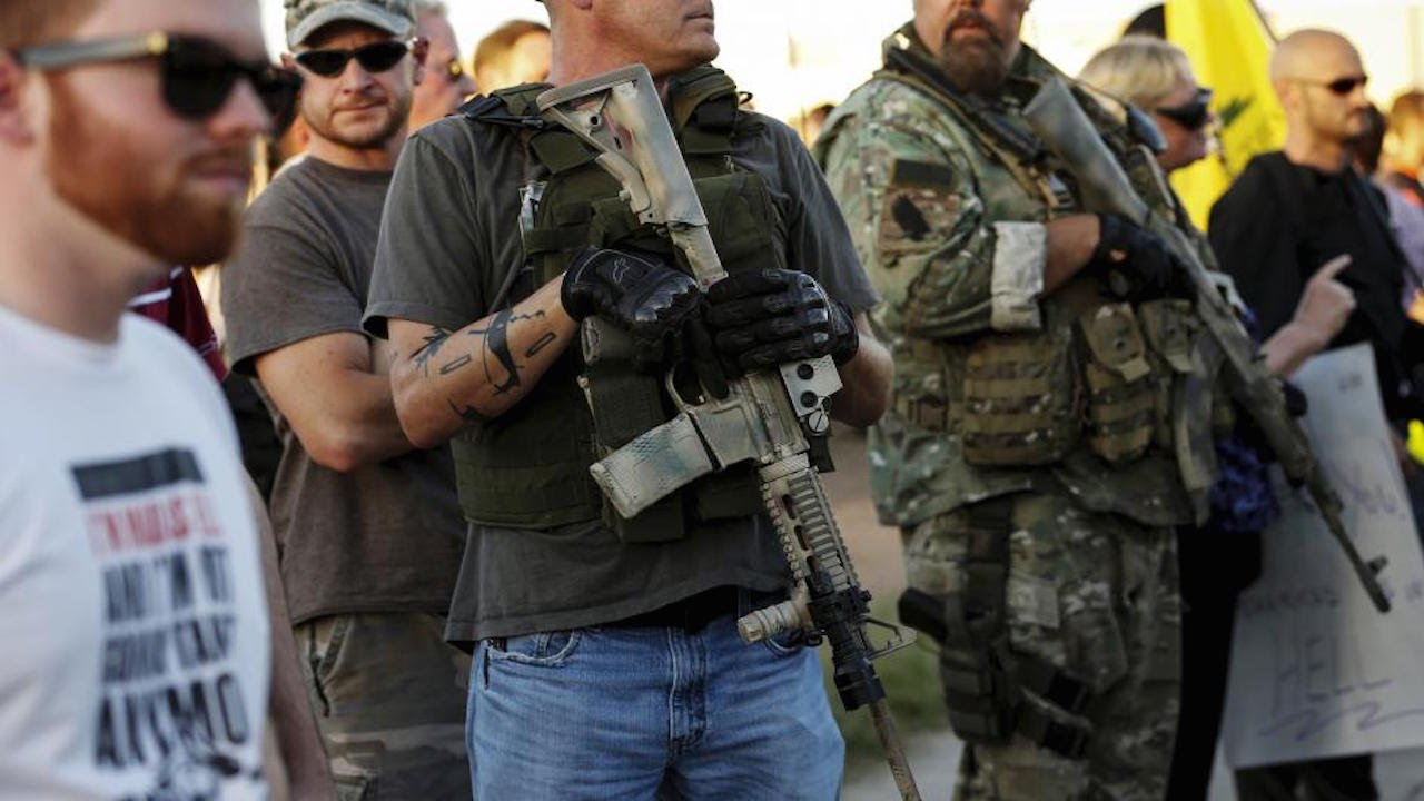 Anti-Muslim Protesters Bring Assault Rifles To Mosque Protest