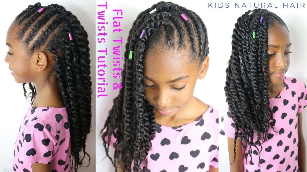 Kids Natural Hair Styles Flat Twists 2 Strand Twists Tutorial