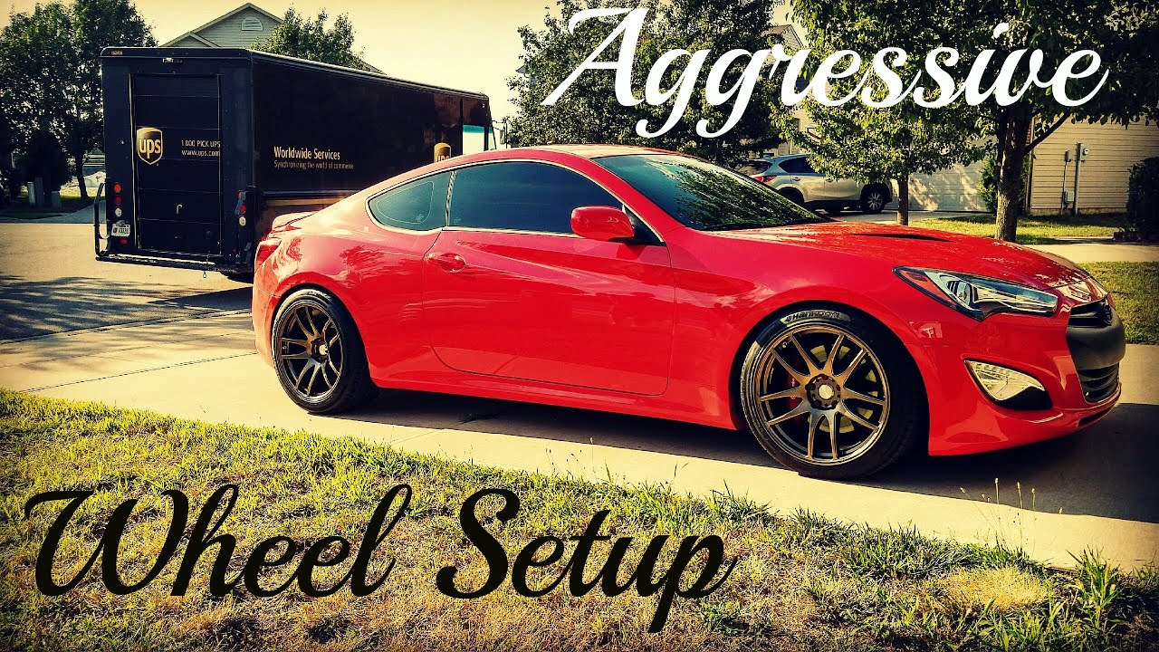 Genesis Coupe Aggressive Wheel Setup Install Esr Sr08 Youtube