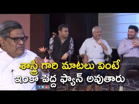 Sirivennela Seetharama Sastry''s great words | Maniratnam, AR Rahman & Arvind Swamy | Nawab interview