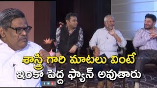 Sirivennela Seetharama Sastry& 39 s great words Maniratnam AR Rahman & Arvind Swamy Nawab interview