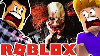 TRAPPED BY A HORRIBLE CLOWN IN ROBLOX WITH FURIOUS JUMPER!!
