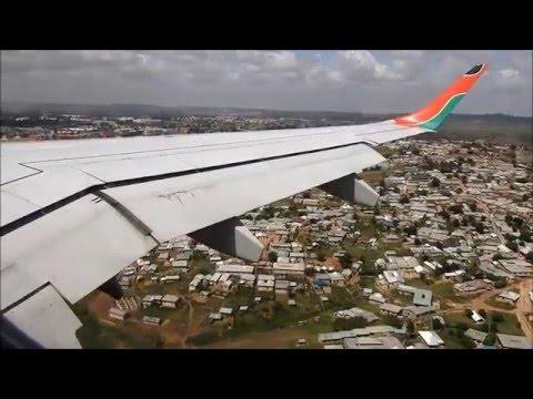 Kenya Airways Embraer 190 Nairobi to Mombasa FULL FLIGHT